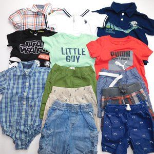 14 pc Boys 24 months / 2T Summer Clothing Lot